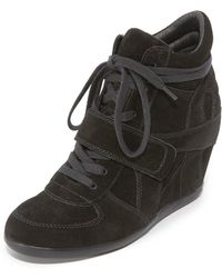 6d5edffaeee Lyst - Products Related to Ash Bowie Wedge Sneakers in Black