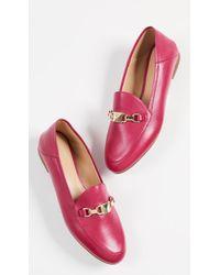 87d2f06fc9b Lyst - Michael Michael Kors Women s Darci Toe Cap Loafers Shoes in Black