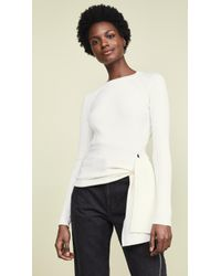 3.1 Phillip Lim - Ribbed Pullover With Waist Tie - Lyst 685c0d440