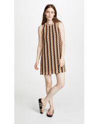 Anna Sui - Zigzag Mini Dress - Lyst