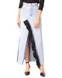 Ksenia Schnaider - Reworked Denim Maxi Skirt - Lyst