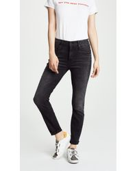 Mother - High Waist Looker Ankle Fray Jeans - Lyst