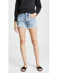 Agolde - Parker Vintage Loose Fit Cutoff Shorts - Lyst