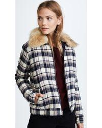 Jenni Kayne - Fur Flannel Zip Jacket - Lyst