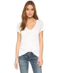 David Lerner | Super Deep V Neck Tee | Lyst