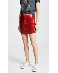 RTA - Callie Leather Bodycon Mini Skirt - Lyst