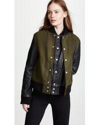 OAK - Double Front Varsity Jacket - Lyst
