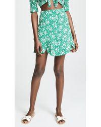 For Love & Lemons - Zamira Floral Miniskirt - Lyst