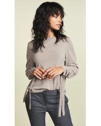 Autumn Cashmere - Drawstring Sleeve Cashmere Sweater - Lyst
