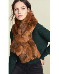 Adrienne Landau - Fur Cross Scarf - Lyst