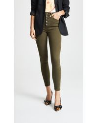 AO.LA by alice + olivia - High Rise Exposed Button Jeans - Lyst
