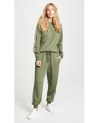 Olivia Von Halle - Missy Milan Striped Silk-blend Sweatshirt And Track Pants Set - Lyst