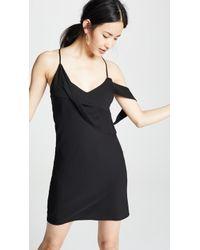 Michelle Mason - Mini Dress With Draped Cowl Neckline - Lyst