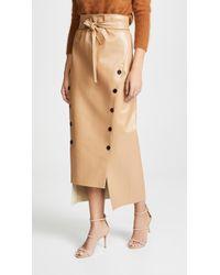Awake - Double Button Front Tie Waist Skirt - Lyst
