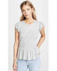 Rebecca Taylor - Smocked Jersey Top - Lyst