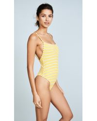 Solid & Striped - The Chelsea Stripe Rib One Piece Swimsuit - Lyst