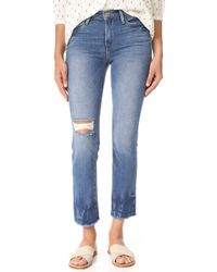 FRAME - Le High Straight Raw Edge Fade Jeans - Lyst