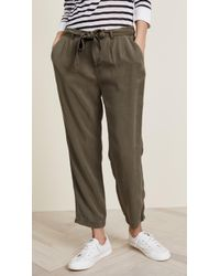 Three Dots | All Weather Twill Pleated Pants | Lyst