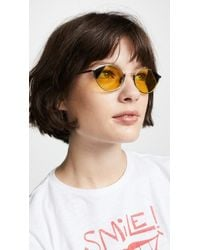 1254cfab7ac Fendi - Narrow Colour Block Cat Eye Sunglasses - Lyst