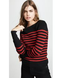 FRAME - Button Up Crew Sweater - Lyst