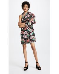 Ella Moon - Floral Pleat Sleeve Dress - Lyst