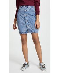 Levi's - Button Thru Skirt - Lyst