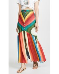 FARM Rio - Rainbow Stripe Maxi Skirt - Lyst