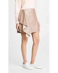 ADEAM - Ruffle Moto Skirt - Lyst