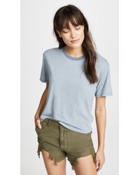 James Perse - Relaxed Sleeve Tee - Lyst
