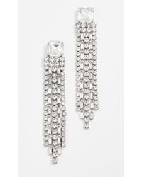 Kate Spade - Glitzville Chain Fringe Earrings - Lyst