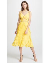 Glamorous - Ruffled Pleats Dress - Lyst