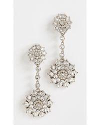 Oscar de la Renta - Classic Jeweled Drop Earrings - Lyst