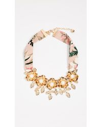 Kate Spade - Lavish Blooms Statement Necklace - Lyst
