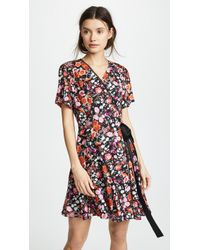 Goen.J - Paneled Wrap Dress - Lyst