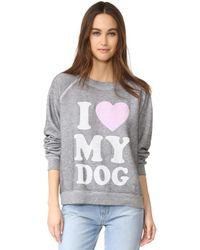 Wildfox - Must Love Dogs Sweatshirt - Lyst