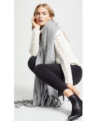 Free People - Jaden Ribbed Fringe Blanket Scarf - Lyst