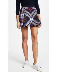 Tommy Hilfiger   Tartan Box Pleated Skirt   Lyst
