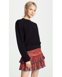 FRAME - Cropped Crew Pullover - Lyst
