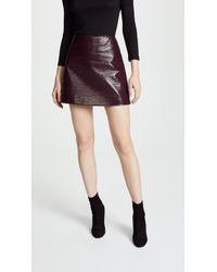 Courreges - Vinyl Mini Skirt - Lyst