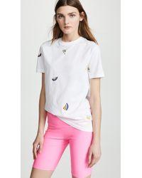 Être Cécile - Wavy Allover T-shirt - Lyst