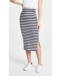 Petit Bateau - 1x1 Striped Skirt - Lyst