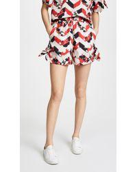 Maison Kitsuné - Venice Sienna Knotted Shorts - Lyst