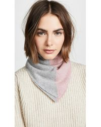 White + Warren - Cashmere Colorblock Neckerchief - Lyst