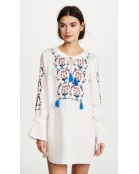 Tory Burch - Wildflower Embroidered Beach Tunic - Lyst