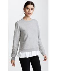 CLU - Too Ruffled Sweatshirt - Lyst
