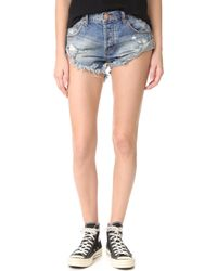 One Teaspoon | Blue Buoy Bandit Shorts | Lyst