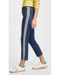 7 For All Mankind - Edie Side Panel Jeans - Lyst