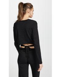 Monrow - Tie Back Long Sleeve Top - Lyst