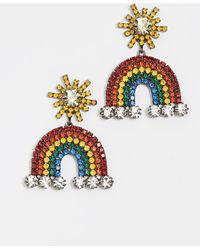 Elizabeth Cole - Rainbow Earrings - Lyst