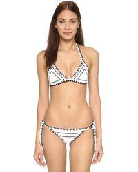 Same Swim - The Catch Bikini Top - Lyst